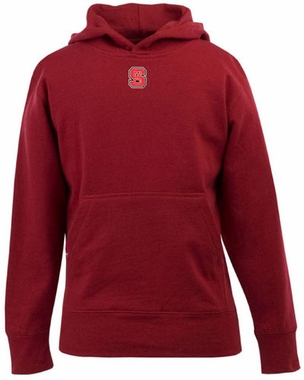 NC State YOUTH Boys Signature Hooded Sweatshirt (Team Color: Red)
