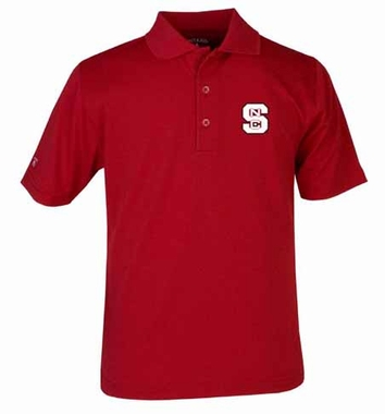 NC State YOUTH Unisex Pique Polo Shirt (Team Color: Red)
