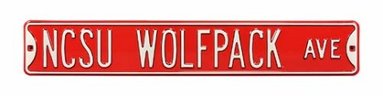 NCSU Wolfpack Ave Street Sign