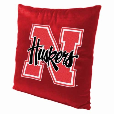 Nebraska 15 Inch Applique Pillow
