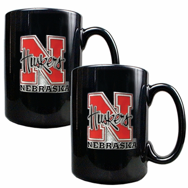 Nebraska 2 Piece Coffee Mug Set