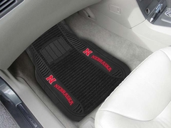 Nebraska 2 Piece Heavy Duty DELUXE Vinyl Car Mats