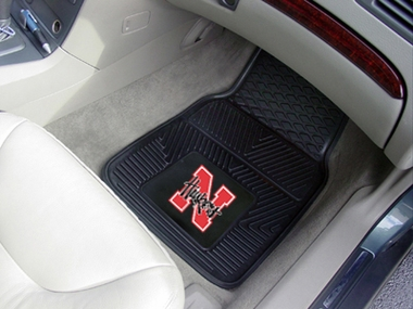 Nebraska 2 Piece Heavy Duty Vinyl Car Mats