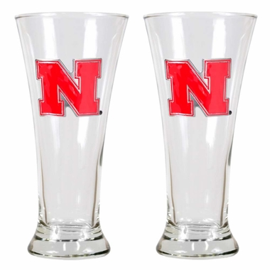 Nebraska 2pc Premiere Pilsner Glass Set