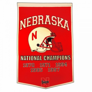 "Nebraska 24""x36"" Dynasty Wool Banner"