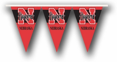 Nebraska 25 Foot String of Party Pennants (P)