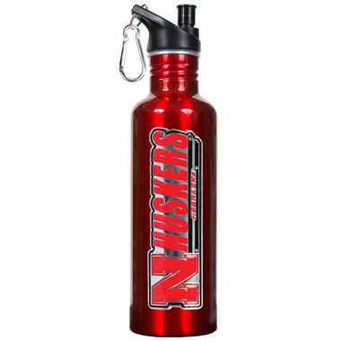 Nebraska 26oz Stainless Steel Water Bottle (Team Color)