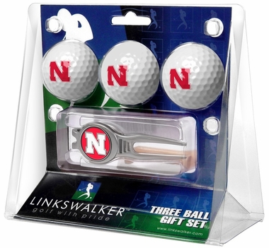 Nebraska 3 Ball Gift Pack With Kool Tool