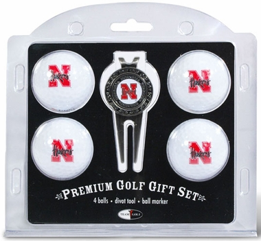 Nebraska 4 Ball and Tool Gift Set