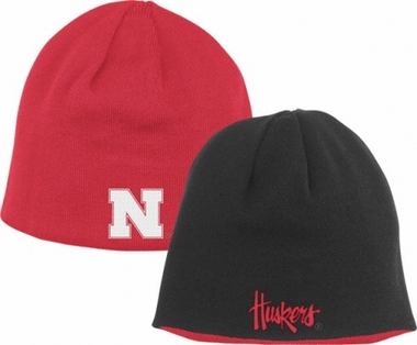Nebraska Adidas Reversible Knit Hat