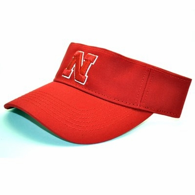 Nebraska Adjustable Birdie Visor