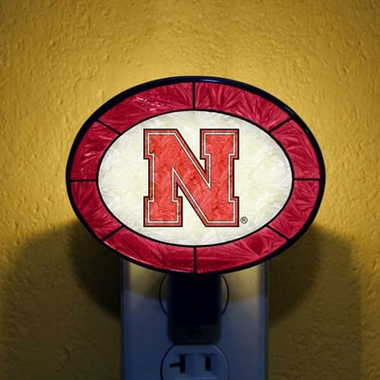 Nebraska Art Glass Night Light