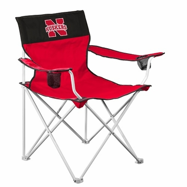 Nebraska Big Boy Adult Folding Logo Chair