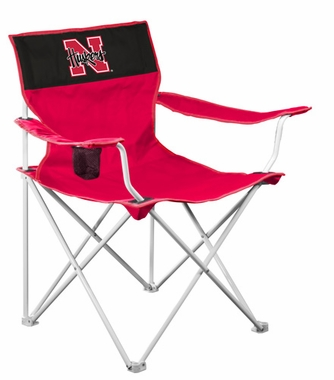 Nebraska Canvas Adult Folding Logo Chair