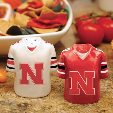 Nebraska Ceramic Jersey Salt and Pepper Shakers