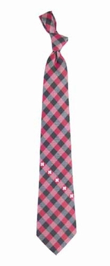 Nebraska Check Poly Necktie
