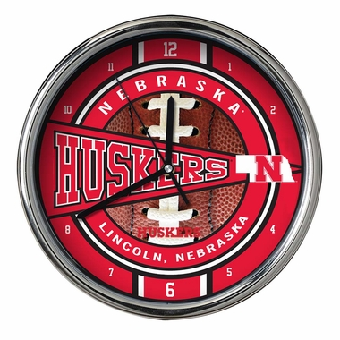 Nebraska Chrome Clock