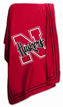 Nebraska Classic Fleece Throw Blanket