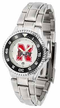 Nebraska Competitor Women's Steel Band Watch