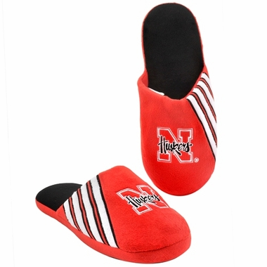 Nebraska Cornhuskers 2012 Team Stripe Logo Slippers