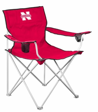 Nebraska Deluxe Adult Folding Logo Chair