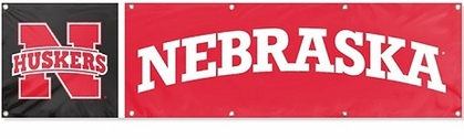 Nebraska Eight Foot Banner