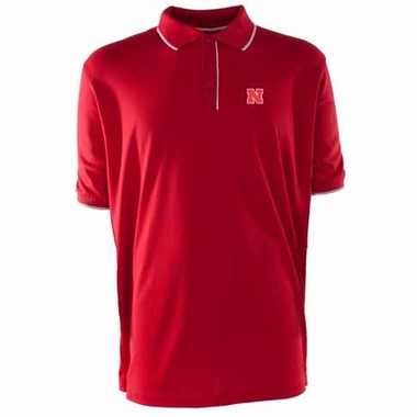 Nebraska Mens Elite Polo Shirt (Team Color: Red)