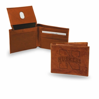 Nebraska Embossed Leather Bifold Wallet