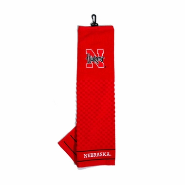 Nebraska Embroidered Golf Towel