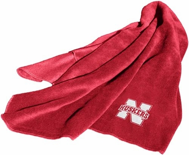 Nebraska Fleece Throw Blanket