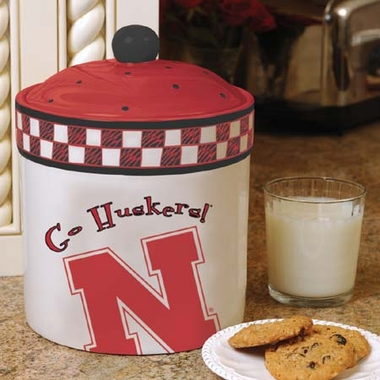 Nebraska Gameday Ceramic Cookie Jar
