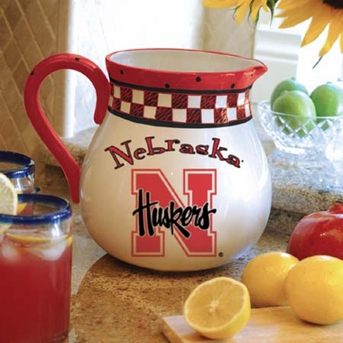 Nebraska Gameday Ceramic Pitcher
