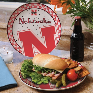 Nebraska Gameday Ceramic Plate