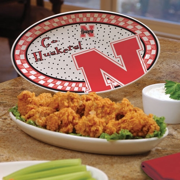 Nebraska Gameday Ceramic Platter