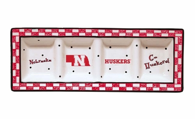 Nebraska Gameday Relish Tray