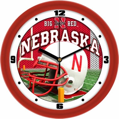 Nebraska Helmet Wall Clock