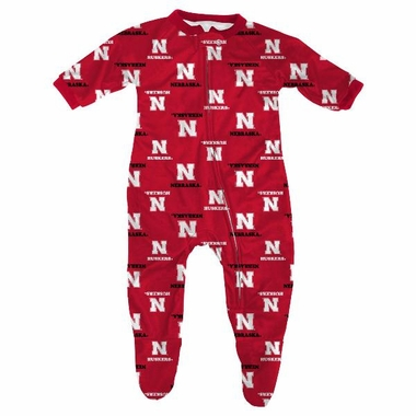Nebraska Infant Footed Zip Raglan Coverall Sleeper