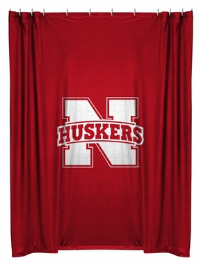 Nebraska Jersey Material Shower Curtain
