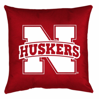 Nebraska Jersey Material Toss Pillow