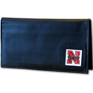 Nebraska Leather Checkbook Cover (F)
