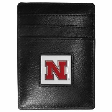 Nebraska Leather Money Clip (F)