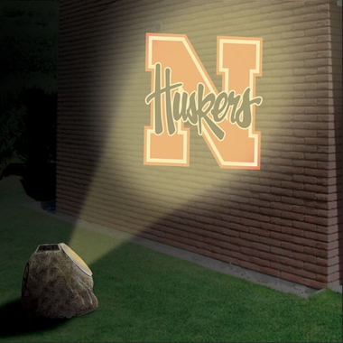 Nebraska Logo Projection Rock