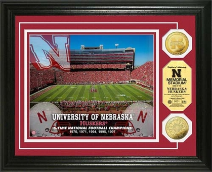 Nebraska Cornhuskers University of Nebraska Stadium Gold Coin Photo Mint