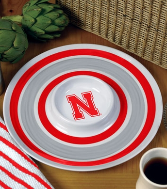 Nebraska Plastic Chip and Dip Plate