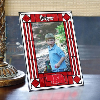 Nebraska Portrait Art Glass Picture Frame