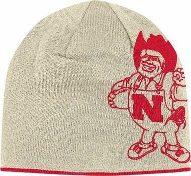 Nebraska Reversible Vault Logo Knit Hat