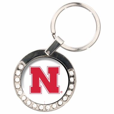 Nebraska Rhinestone Key Chain