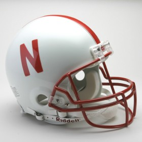 Nebraska Riddell Full Size Authentic Helmet