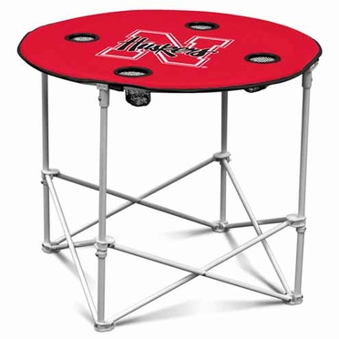 Nebraska Round Tailgate Table