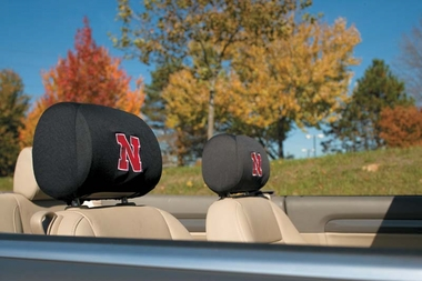 Nebraska Set of 2 Headrest Covers (F)